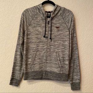 PINK Victoria's Secret Gray Hoodie Jacket